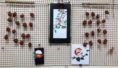 11月の壁飾り!干し柿作り☆